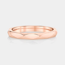 Load image into Gallery viewer, Rose Gold Faceted Geometric Ring