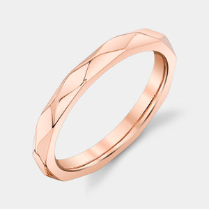 Rose Gold Faceted Geometric Ring
