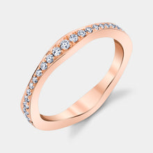Load image into Gallery viewer, Rose Gold Graduating Diamond Band