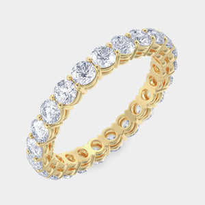 2 ct Round Diamond Shared Prong Eternity Band