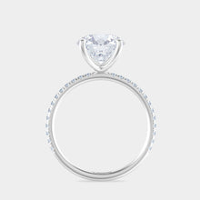 Load image into Gallery viewer, 2ct Round with Petite By Bonnie French Pave