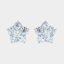 Load image into Gallery viewer, Flower Cluster Diamond Studs