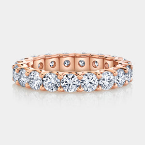 2.5 ct Rose Gold Round Diamond Eternity Band
