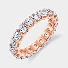 Load image into Gallery viewer, 2.5 ct Rose Gold Round Diamond Eternity Band
