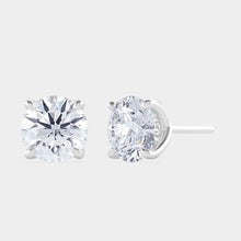 Load image into Gallery viewer, 2 ct GIA Certified Round Diamond Studs