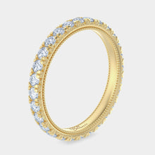 Load image into Gallery viewer, French Pave Milgrain Diamond Eternity Band