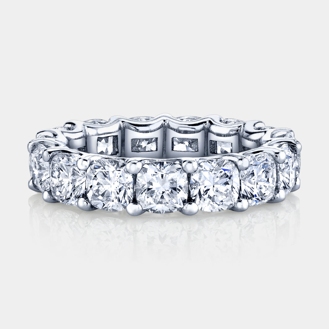 4.5 ct Cushion Cut Diamond Eternity Band