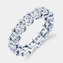 Load image into Gallery viewer, 4.5 ct Cushion Cut Diamond Eternity Band