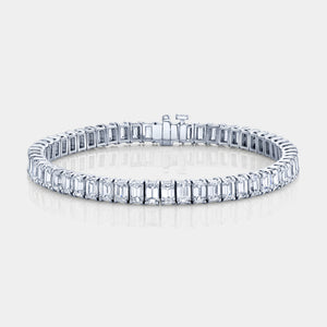 13ct Emerald Cut Diamond Tennis Bracelet