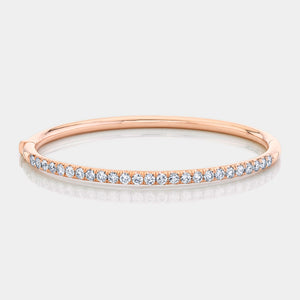 2ct Rose Gold Pave Diamond Bangle