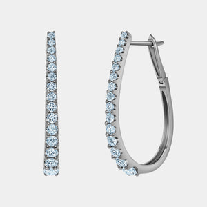 Black Rhodium Graduating Diamond Hoop Earrings