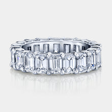 Load image into Gallery viewer, 6 ct Emerald Cut Diamond Eternity Band
