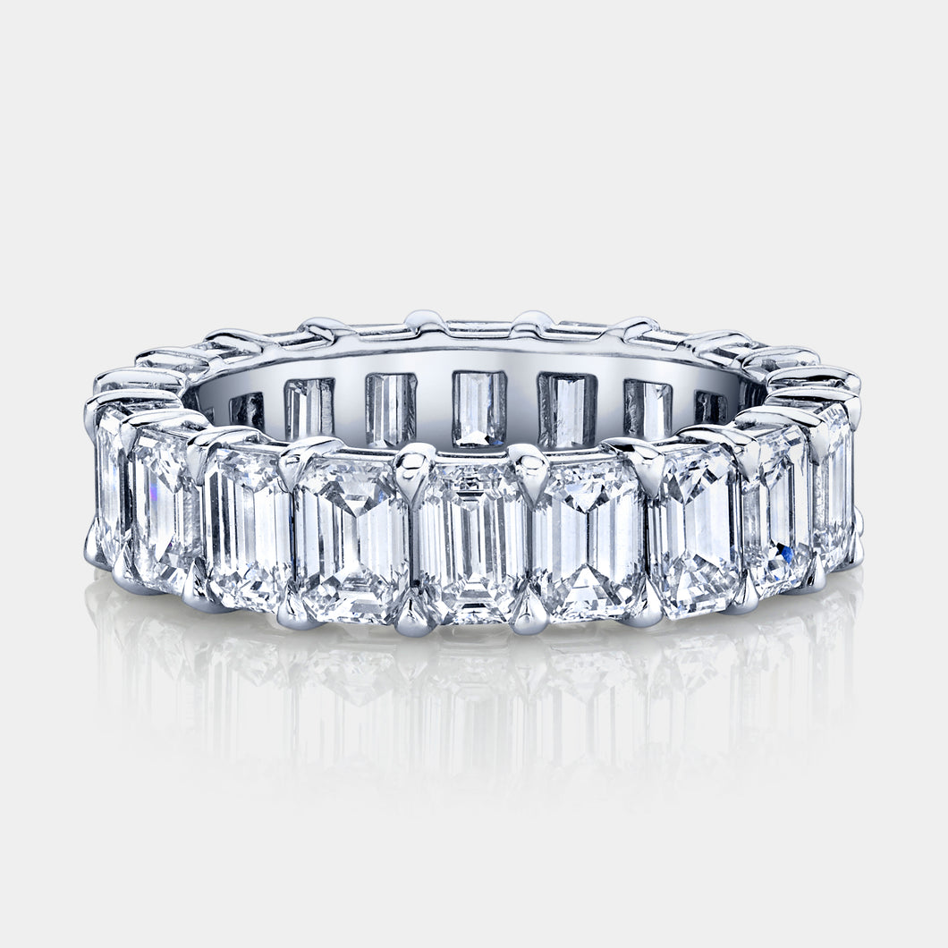 6 ct Emerald Cut Diamond Eternity Band