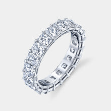Load image into Gallery viewer, 4ct Radiant cut Eternity Band