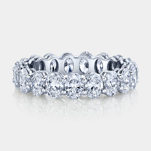 3.5 ct Oval Cut Diamond Eternity Band