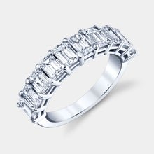 Load image into Gallery viewer, Petite Emerald Cut 10 Stone Diamond Band