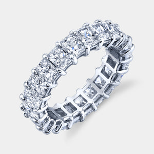 5 ct Radiant Cut Diamond Eternity Band