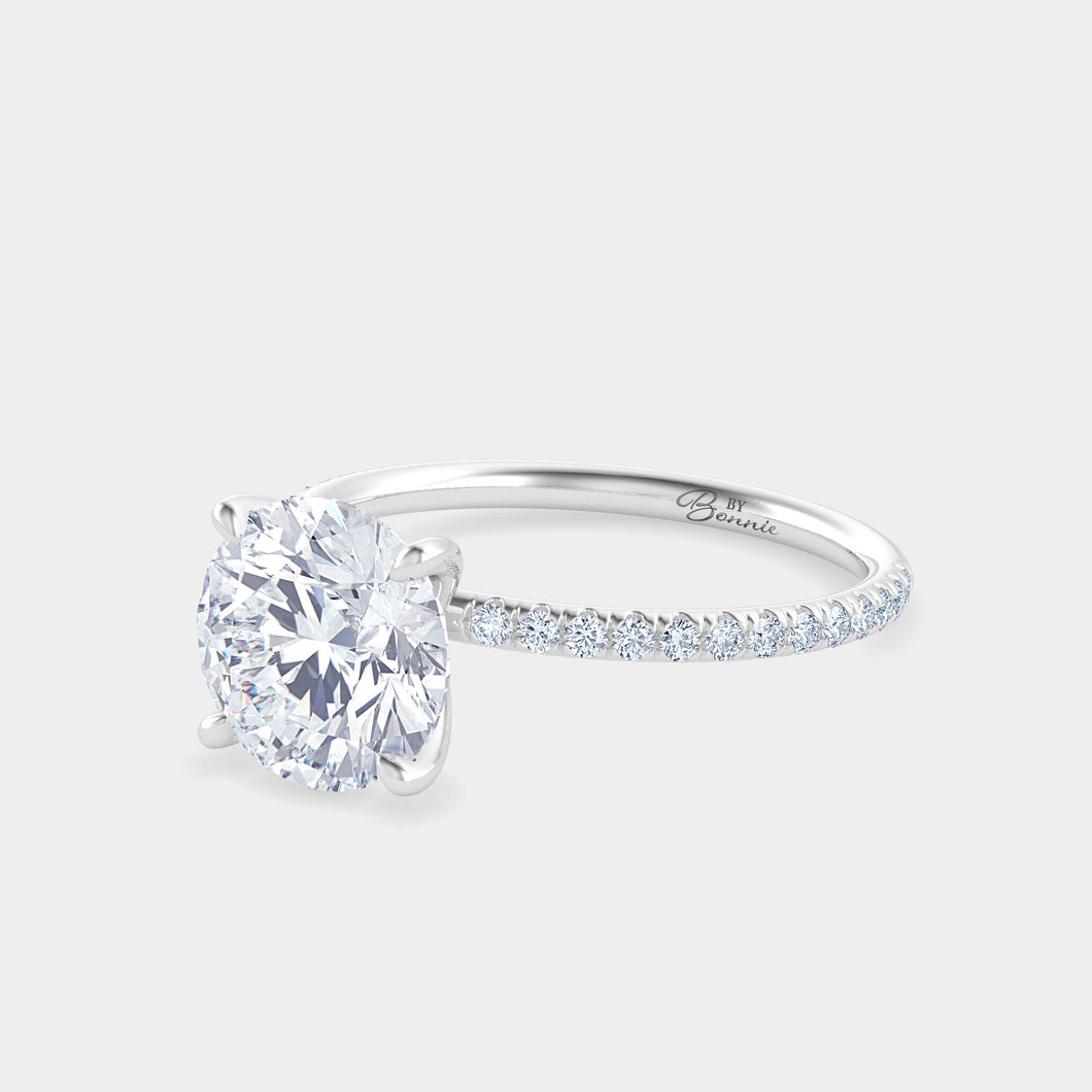 2ct Round with Petite By Bonnie French Pave