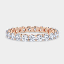 Load image into Gallery viewer, 2 ct Round Diamond Shared Prong Eternity Band