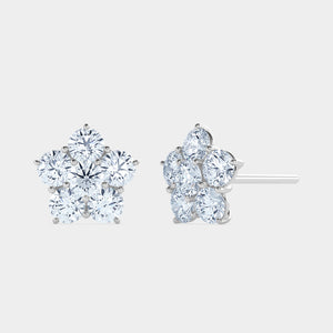 Flower Cluster Diamond Studs