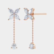Load image into Gallery viewer, Clover Diamond Drop Convertible Earrings