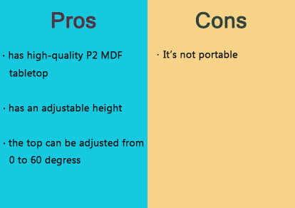 pros and cons of adjustable drafting desk