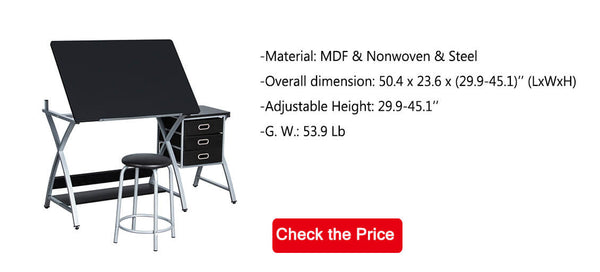 folding drawing table