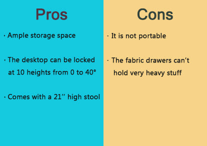 pros and cons of wooden drafting table