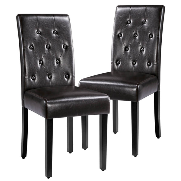 faux leather dinin chair