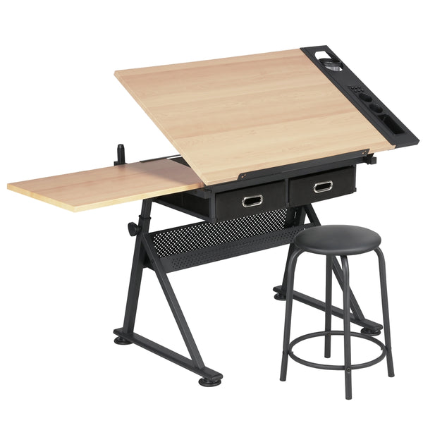 Adjustable Draft Table With Storage
