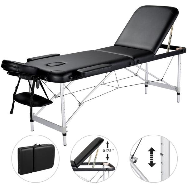 Aluminium Alloy Massage Bed w/3 Sections
