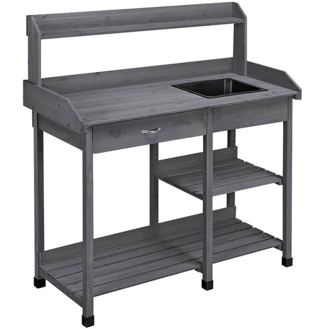 Garden Potting Bench Gray-Costoffs