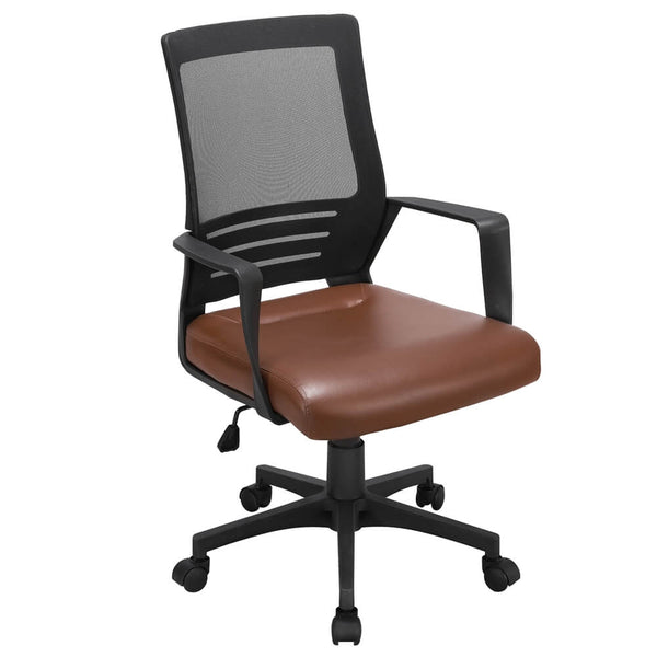 Height Adjustable Mesh Brown Office Chair-Costoffs