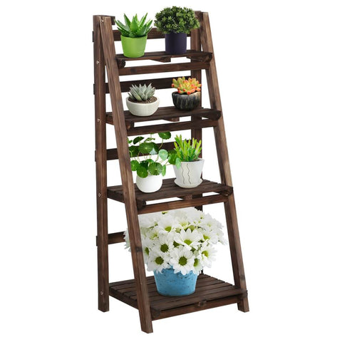 Wooden Flower Stand 4 Tiers-Costoffs