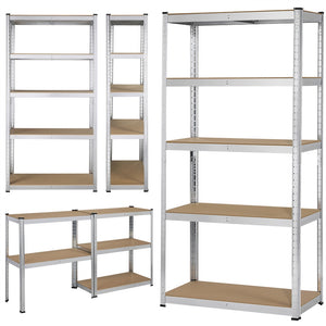 Silver 5 Tier Garage Shed Storage
