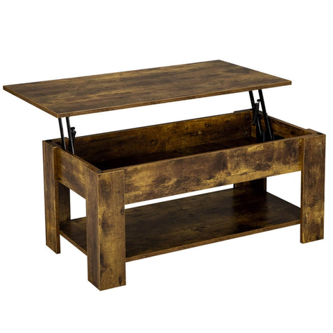 Rustic Lift Top Coffee Table -Costoffs