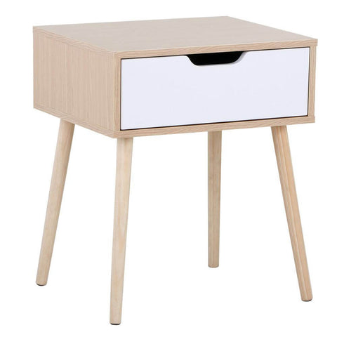 End Side Table Nightstand with Storage Drawer-Costoffs