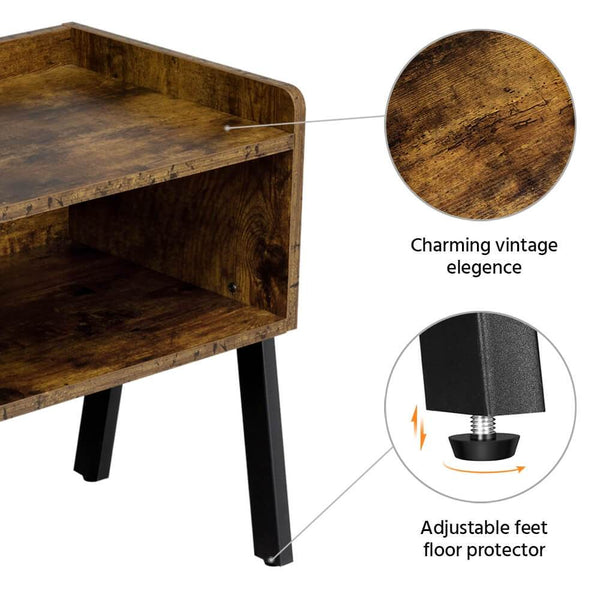 Nightstand Bedside End Table-Costoffs