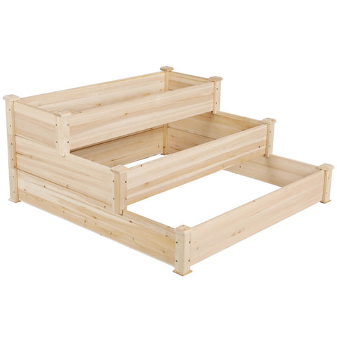 3 Tiers Wooden Garden Bed-Costoffs