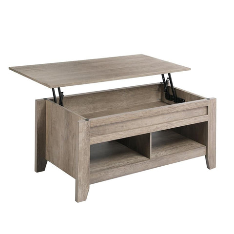 Lift Top Coffee Table with Hidden Storage Compartment&Lower Shelf-Costoffs