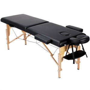 Adjustable Portable 2 Fold Spa Massage Bed Therapy Table-Costoffs