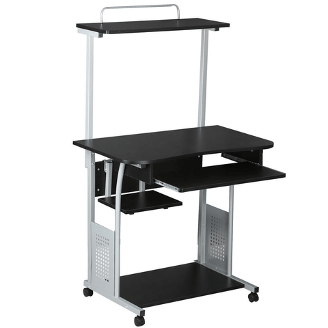 Home Office 2 Tier Computer Desk Workstation-Costoffs
