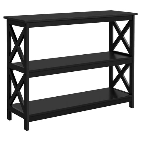X Design 3 Shelves Wooden Console Table-Costoffs