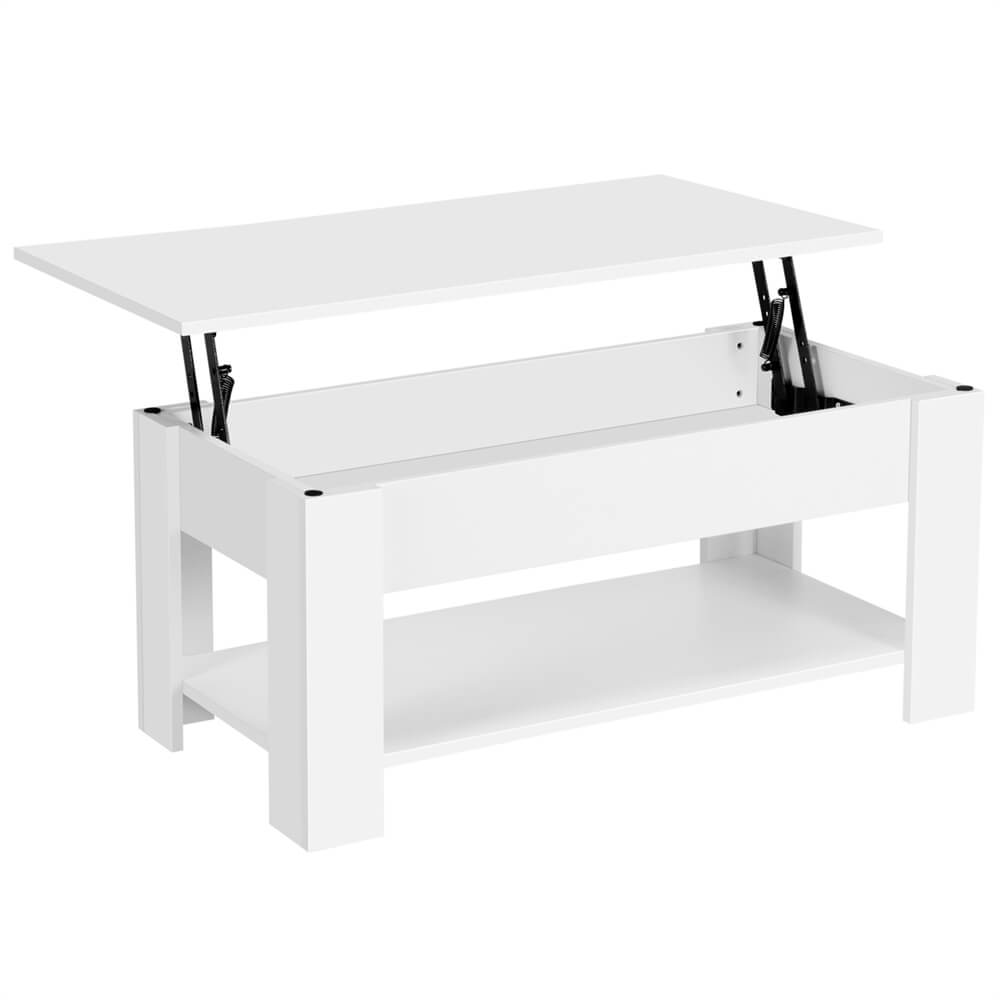 White Lift Top Coffee Table-Costoffs
