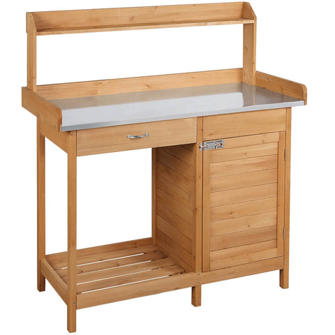 Wooden Potting Bench-Costoffs