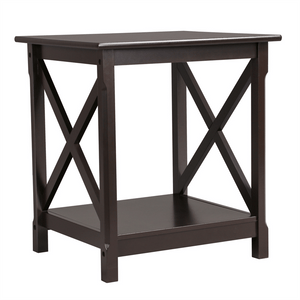 X Design Wood Sofa Side End Table-Costoffs