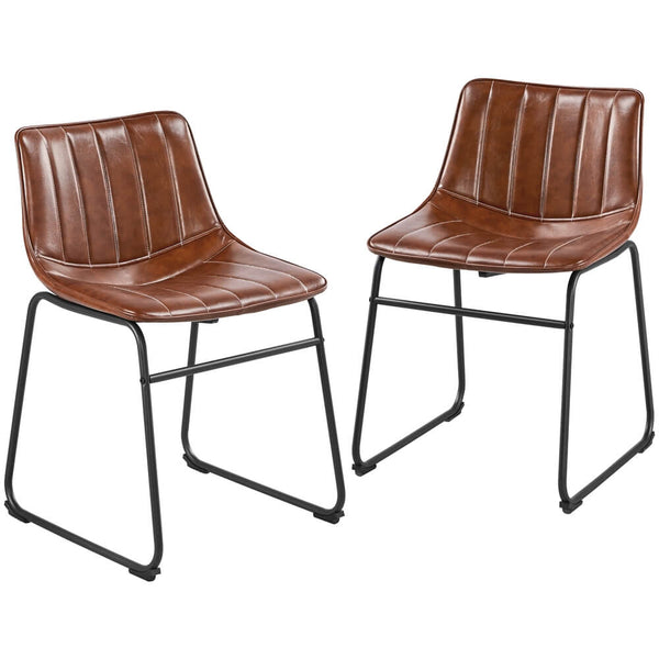 2pcs Armless Dining Chairs-Costoffs