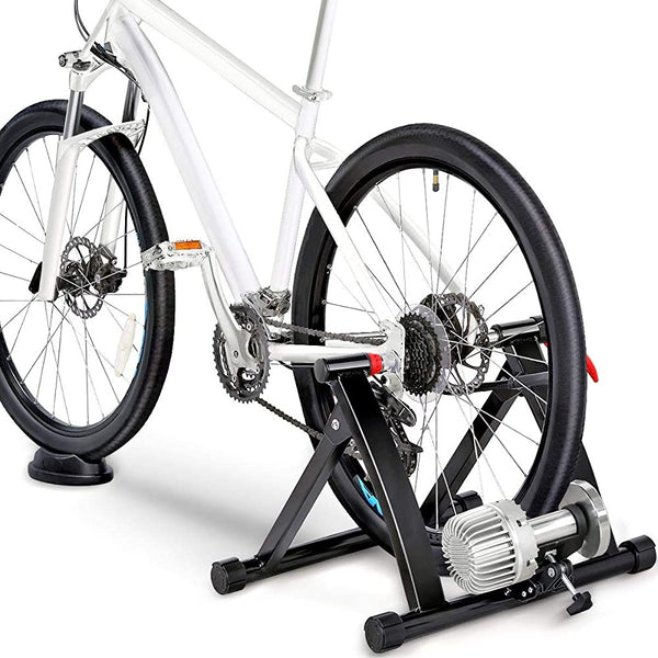 Fluid Bike Trainer Indoor Bicycle Exercise Stand with Quick Release Skewer&Front Wheel Block-Costoffs
