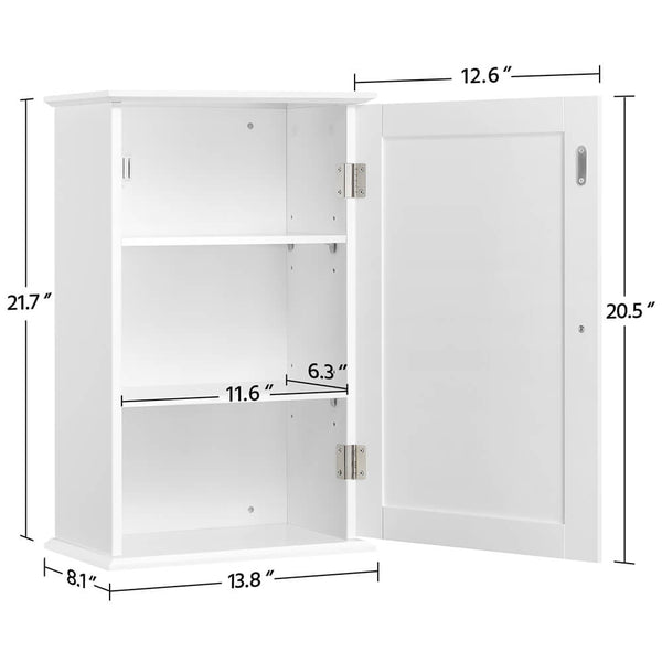 Louver Wall Cabinet White-Costoffs
