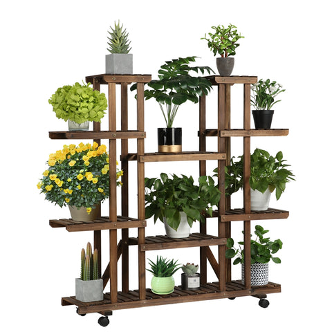 6 Tiers Wood Flower Stand-Costoffs